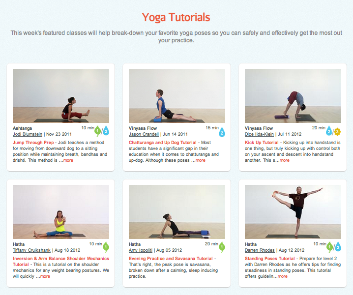 Yoga Tutorials