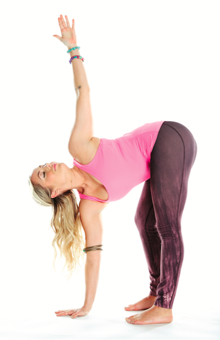 standing forward bend with twist