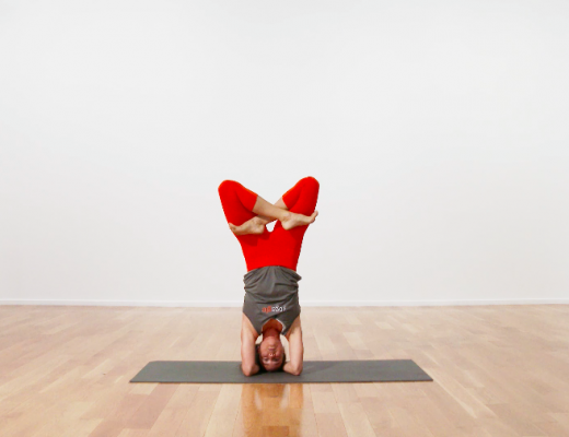 lotus in headstand