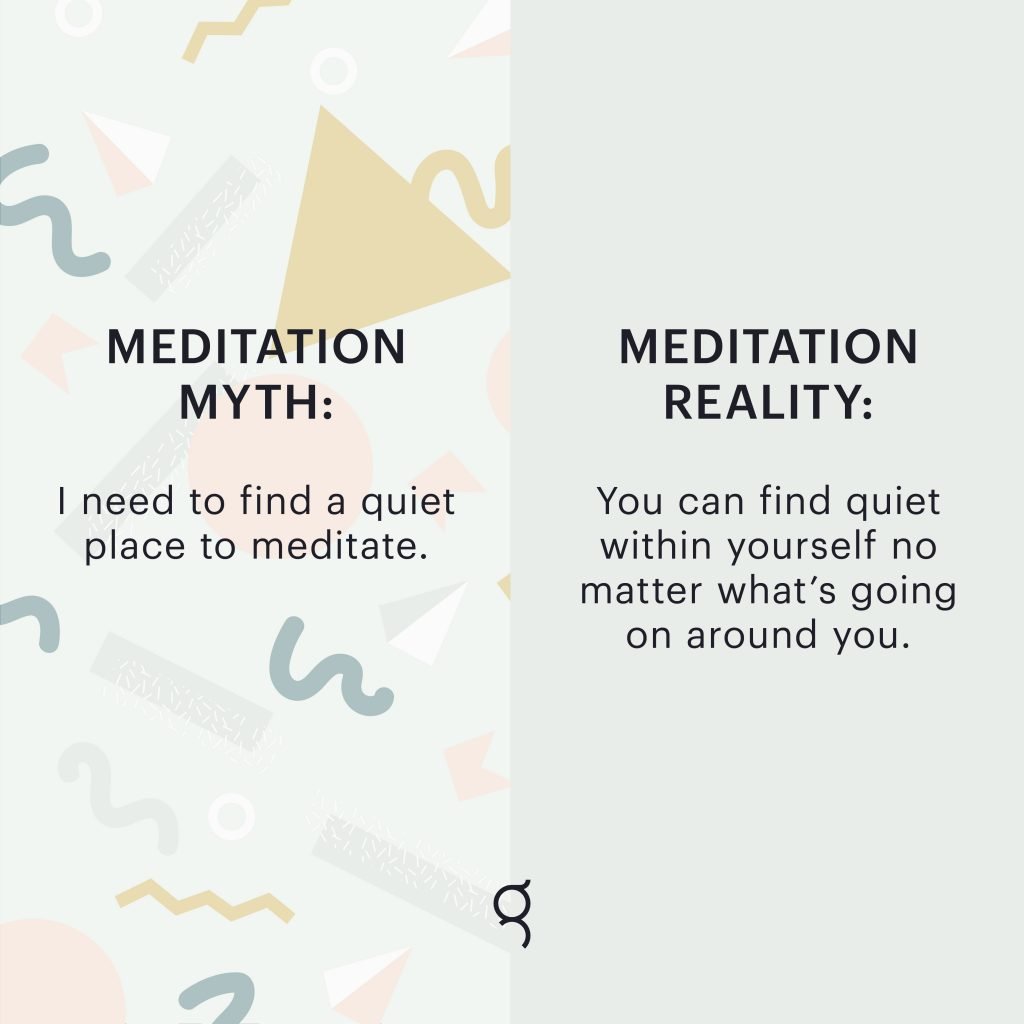 Finding a quiet place for meditation is a luxury that many of us no longer have. The good news is—we can meditate anytime, anywhere.